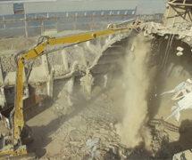AERTSSEN performing a demolition job at Euroports Antwerp