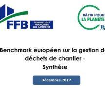 Benchmark européen sur la gestion des déchets de chantier – Synthèse